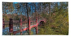 Bath Towel featuring the photograph Crim Dell Bridge by Jerry Gammon