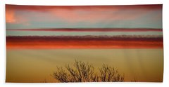 Hand Towel featuring the photograph Crimson Clouds At Sunrise by James Truett
