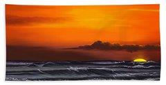 Crimson Sunset Bath Towel by Anthony Fishburne
