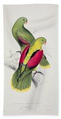 Crimson Winged Parakeet Hand Towel