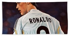 Cristiano Ronaldo Hand Towel by Paul Meijering