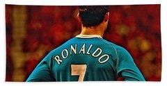 Cristiano Ronaldo Poster Art Hand Towel