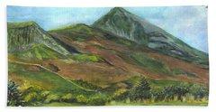 Croagh Saint Patricks Mountain In Ireland  Bath Towel