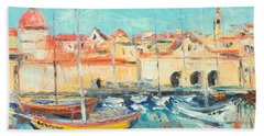 Croatia - Dubrovnik Harbour Bath Towel