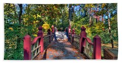 Crossing The Crim Dell Bridge Hand Towel by Jerry Gammon