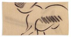 Crouching Monkey Hand Towel by Henri Gaudier-Brzeska