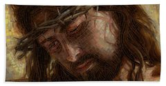 Crown Of Thorns Glass Mosaic Hand Towel