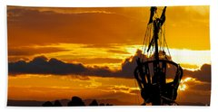 Crows Nest Silhouette On Newfoundland Coast Hand Towel