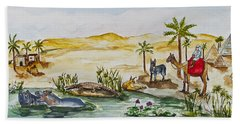 Cruising Along The Nile Hand Towel