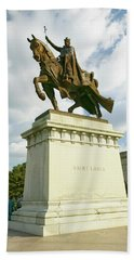 Crusader King Louis Ix Statue In Front Hand Towel
