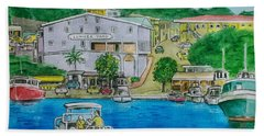 Cruz Bay St. Johns Virgin Islands Hand Towel