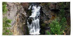 Crystal Falls Bath Towel by Greg Patzer
