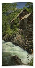 Hand Towel featuring the photograph Crystal Mill by Priscilla Burgers