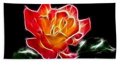 Hand Towel featuring the photograph Crystal Rose by Mariola Bitner