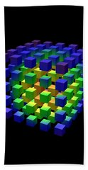 Hand Towel featuring the digital art Cube Of Cubes... by Tim Fillingim