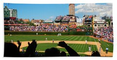 Bath Towel featuring the photograph Cubs Win by James Kirkikis