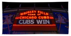 Cubs Win Hand Towel by Steve Gadomski