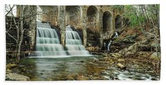 Cumberland Waterfall Bath Towel by Debbie Green