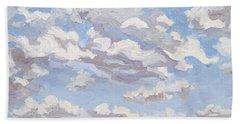 Cumulus Clouds Over Flint Hills Bath Towel