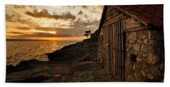 Cunski Beach At Sunrise Bath Towel