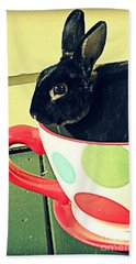 Cup O' Rabbit Hand Towel by Valerie Reeves