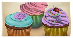 Cupcakes Bath Towel