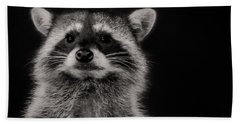 Curious Raccoon Bath Towel