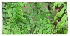Curly Fronds Bath Towel