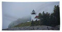 Curtis Island Lighthouse Hand Towel by Daniel Hebard