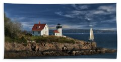 Curtis Island Lighthouse Maine Img 5988 Hand Towel by Greg Kluempers