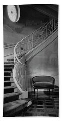 Curving Staircase In The Home Of  W. E. Sheppard Hand Towel