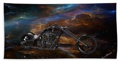 Custom Black Chopper Hand Towel