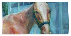 Custom Pet Portrait Painting - Original Artwork -  Horse - Dog - Cat - Bird Bath Towel