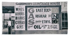 Cut Rate Liquor And Gas - East Texas - Waco  1939 Hand Towel
