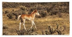 Cute Colt Wild Horse On Navajo Indian Reservation  Bath Towel by Jerry Cowart