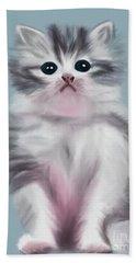 Cute Kitten Hand Towel