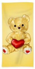 Cute Teddy Bear Hypnotist Hand Towel