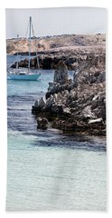 In Cala Pudent Menorca The Cutting Rocks In Contrast With Turquoise Sea Show Us An Awsome Place Bath Towel