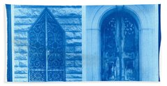 Cyanotype Crypt Doors Hand Towel