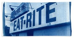 Cyanotype Eat Rite Diner Hand Towel