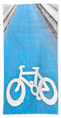 Cycle Path Hand Towel by Tom Gowanlock