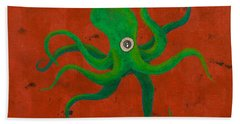 Cycloptopus Red Hand Towel