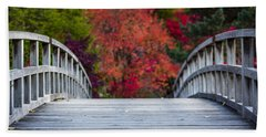Hand Towel featuring the photograph Cypress Bridge by Sebastian Musial