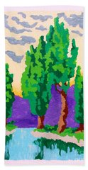 Cypress River Hand Towel by Roberto Prusso