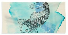 Cyprinus Carpio Hand Towel