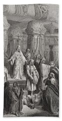 Cyrus Restoring The Vessels Of The Temple Hand Towel