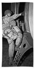 D-day Paratrooper Ready Bath Towel