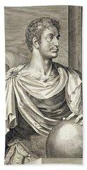 D. Octavius Augustus Emperor Of Rome 27 Bath Towel