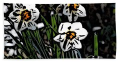 Hand Towel featuring the digital art Daffodil by David Lane