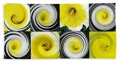 Daffodil Spring Mosaic Bath Towel by Sarah Loft